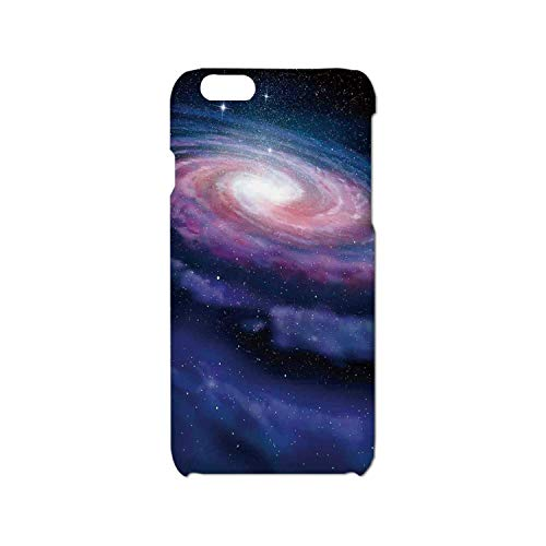 Galaxy Simple Phone Case,Nebula in Outer Space Spiral Stardust Mist Cloud of Dust Planetarium Astronomy Art Compatible with iPhone 6/6s,iPhone 6,6s
