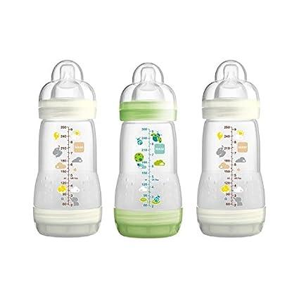 Unisex 3 Pack MAM 160 ml Anti Colic Bottle