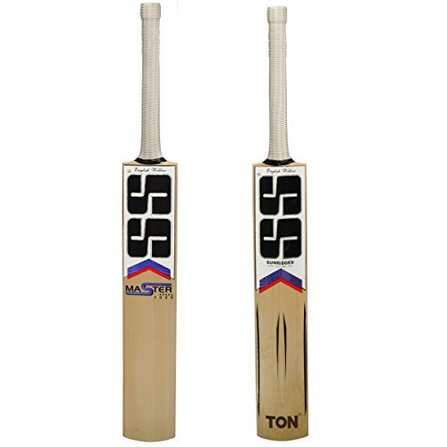 SS Master 5000 English Willow Cricket Bat (Free Extra SS Grip, Bat cover, Anti scuff Sheet) 2017 Edition by SS