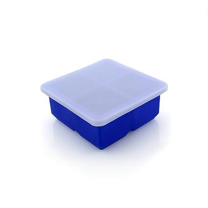 OPUSS - Molde de silicona flexible para cubitos de hielo, fácil de liberar, molde