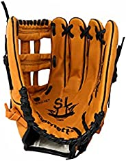SL-127 Leather Baseball Glove, Outfield, Size 12.7'', REG, Brown,