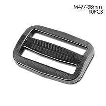 Multi-size Straps Webbing Slide Triglides Slide Plastic Slide Buckle for Backpack Bag (38 mm)