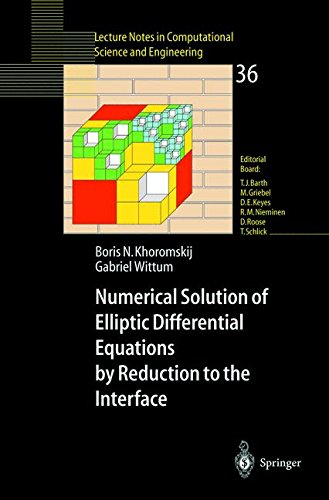 Numerical Solution of Elliptic Differential Equations by Reduction to the Interface