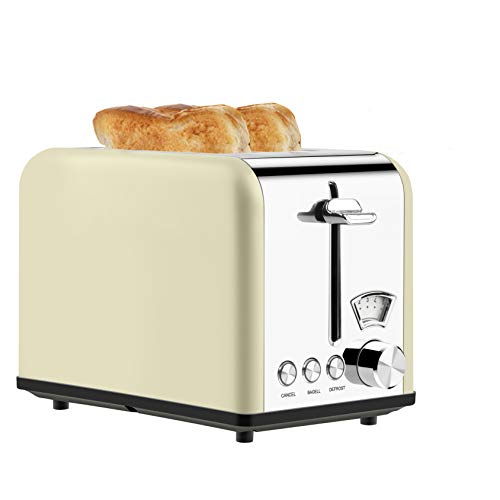 Toaster 2 Slice Toasters Best Rated Prime with Visible Window Setting for 5 Brown Level,Compact Stainless Steel Toaster…