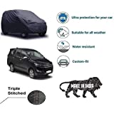 Amikan CAR Cover for Toyota Innova Crysta|| Export Quality Fabric|| Water Resistant and UV Protection || Triple Stitched || Front and Back Elastic || Dark Grey Color || with Carry Bag || Model – V9