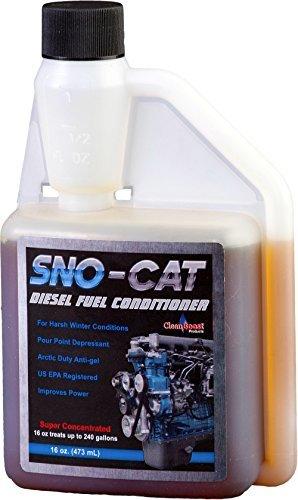 CleanBoost® Sno-CatTM 16oz Anti Gel Fuel Treatment - Treats 240 Gallons of Diesel