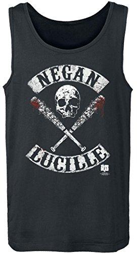 The Walking Dead Negan Lucille Camiseta Tirantes Negro Negro