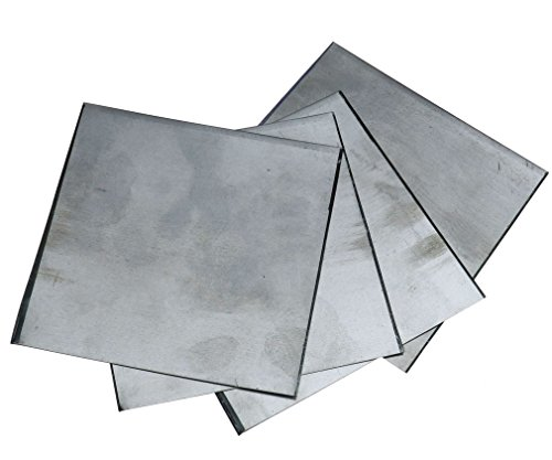 High Purity 99.9% Pure Zinc Zn Sheet Plate Foil 140x140x0.2mm for Science Lab