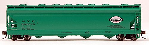 ACF 4-BAY CENTER-FLOW COVERED HOPPER - READY TO RUN -- NEW YORK CENTRAL (JADE GREEN, CIGAR BAND ()