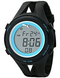 PUMA Unisex PU911171001 Air III Black Digital Display Quartz Black Watch