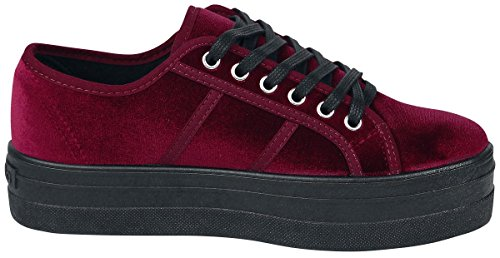 Rojo Victoria para 41 Basket Mujer Zapatillas Burdeos Terciopelo xZqZOX4wU