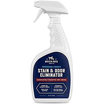 Rocco & Roxie Supply Co Professional Strength Stain & Odor Eliminator - Enzyme-Powered Pet Odor & Stain Remover for Dogs and Cat Urine - Spot Carpet Cleaner - Small Animal Odor Remover (32 oz)