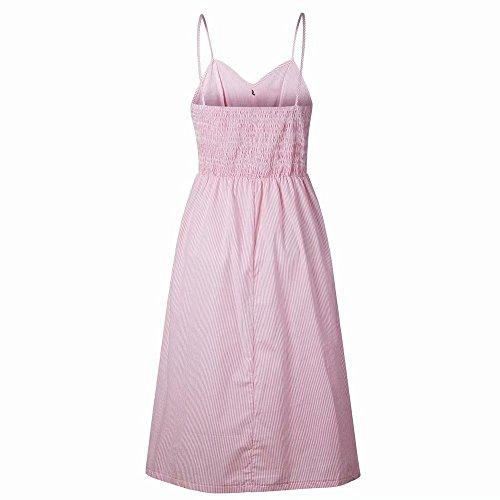 Scollo Mini Stampato A Vestito Yandw Donna Estate Con Bottone Gi Elegante Abito wgqXzw