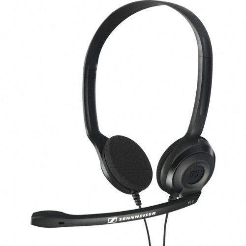 Sennheiser PC3 chat Micro-Casque PC VOIP binaural Noir PC 3 CHAT Webcam video conférénce