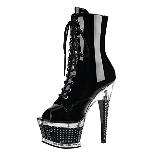 Pleaser - Sexier Than Ever Peeptoe Stiefel ILLUSION-1021