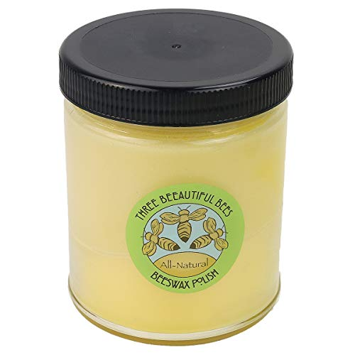 Three BEEautiful Bees All-Natural Beeswax Polish with Jojoba Oil, 4 oz.