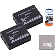 2 Pack Of NP-W126 Batteries for Fujifilm FinePix HS50EXR Digital Camera Includes NPW126 Battery + LCD Screen Protectors + Cleaning Cloth