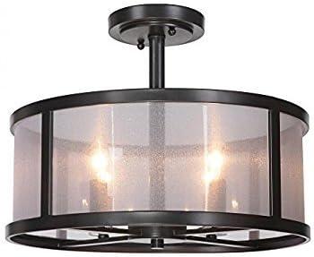 Danbury 4 Light 18 inch Matte Black Pendant Ceiling Light ou Semi Flush Mount in Organza Wrapped Black
