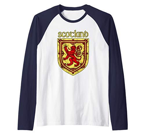 (Scotland Coat of Arms Shirts: Scottish Rampant Lion Raglan Baseball Tee)