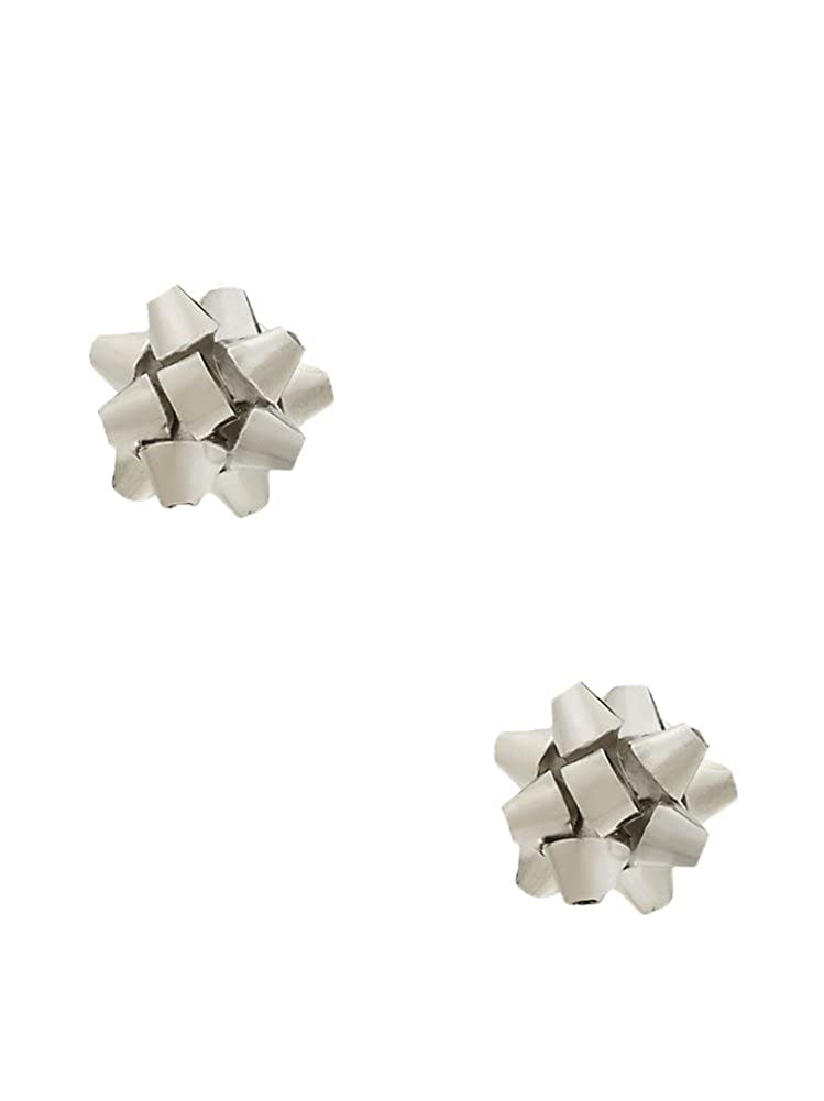 Amazon.com: Kate Spade Bourgeois Bow Stud Earrings, Silvertone: kate ...