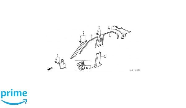 Right Rear Genuine Hyundai 85860-22600-FK Pillar Trim Assembly