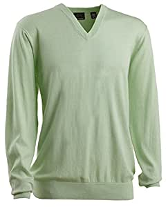 Greg Norman Collection Men's V-Neck Sweater, Spearmint Heather, Medium