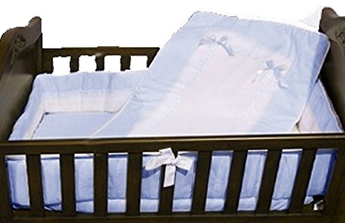 Baby Doll Bedding  Royal Cradle Bedding Set, Blue