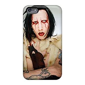 KvK488MthU Anti-scratch Case Cover Qqoo Protective Marilyn Manson Band Case For Iphone 6plus