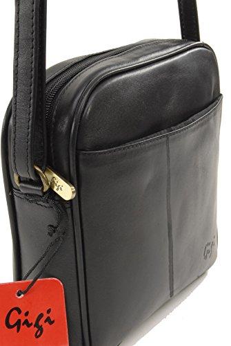 GIGI - OTH22-29 - Bolso bandolera / Bolso de hombro - Cuero - Pequeño Negro