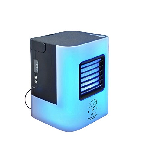 YEEMEEL Portable Air Conditioner Small Desktop Fan nano Tech Portable Personal Air Cooler/Humidifier/Cleaner Home Office (Black) by YEEMEEL
