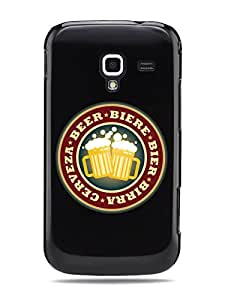 "GRÜV Premium Case - ""Cerveza Beer Mug Party Pub Bar"" Design - Best Quality Designer Print on Black Hard Cover - for Samsung Galaxy Ace 2 II i8160"