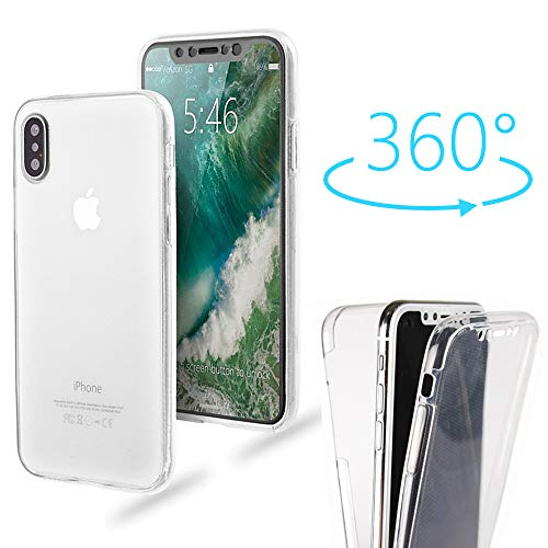 for iPhone XR Case,AMASELL 360 Coverage Full Body Protective Shell Shockproof Front and Back Clear Crystal Soft Silicone Rubber Case Cover Compatible Apple iPhone XR (6.1 Inch)