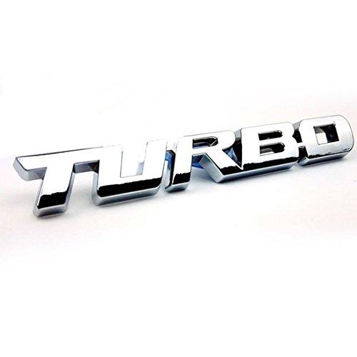 3D TURBO word letter sport sticker auto  - Metal Car Emblem Shopping Results