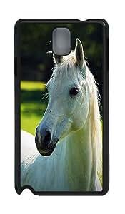 White Horse Animal Custom Samsung Galaxy Note 3 N9000 Case Cover ¨C Polycarbonate ¨CBlack