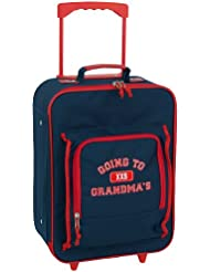 Mercury Going to Grandmas Wheeled Upright Childrens Luggage, Small, Navy Blue
