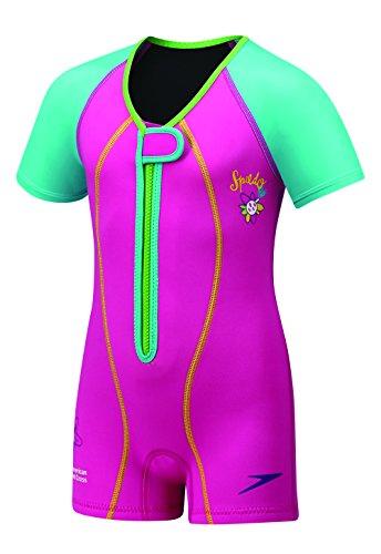 Speedo Kids' UPF 50+ Begin to Swim Thermal Swimsuit, Pink, 6-6x