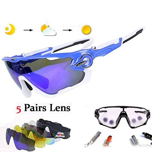 Polarized & Photochromic Cycling Sunglasses Mountain Bike Goggles Cycling Eyewear Bicycle Sunglasses Cycling Glasses,JK-010