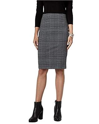 LE CHÂTEAU Glen Check Ponte Pencil Skirt
