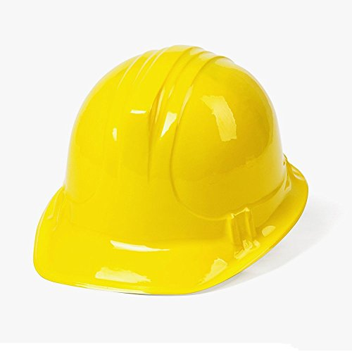 "Rhode Island Novelty Children's Dress Up Soft Plastic Construction Hard Hats Accessory for Kids Building Construction Themed Party Favors Toys, Yellow, 12 Pack, 10"" x 5.5"" x 8 -"