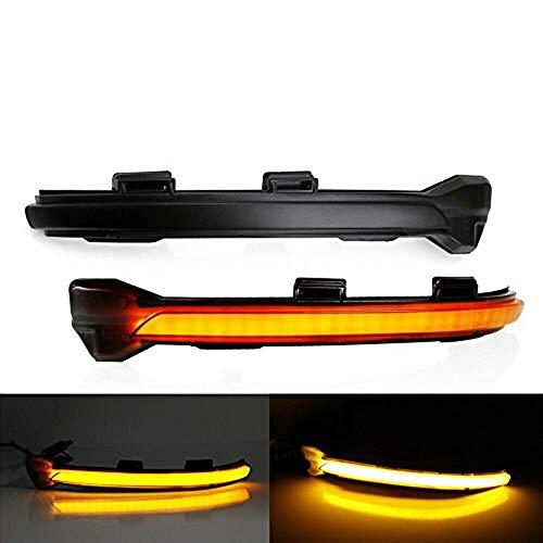 Dynamic Smoked LED Turn Signal Light Mirror Indicator for VW MK7 Golf GTI 15 (Black)