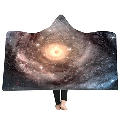 Weiliru Child Like Hooded Blanket Throw 3D Printing Starry Blankets Warming for Winter/Autumn/Spring Beach Travel