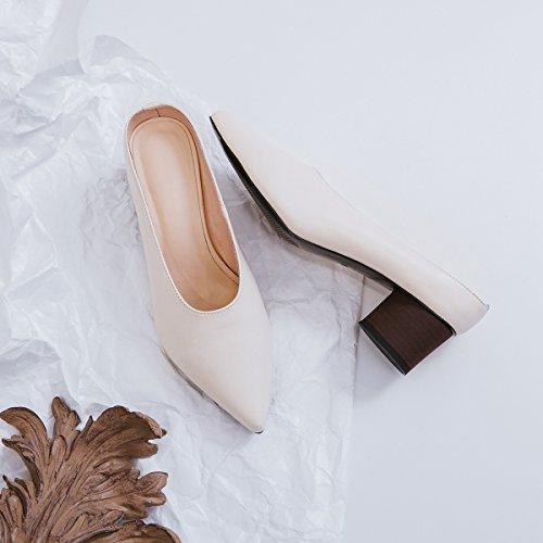 Respirant Robe Femmes Évidées Carrière Soirée Pu B Sandales pantoufles Tongs Pointues D'été Marche Pour Et De Xue Bureau Confort Chaussures ChQtsdxr