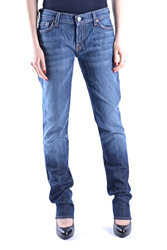 7 For All Mankind Jeans Donna MCBI004024O Cotone Blu