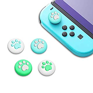 Thumb Grip Caps for Nintendo Switch & Lite Joy Con, Unionup Cat Claw Design Joystick Cover for Animal Crossing New Horizons, Soft Silicone Controller Button Stick (4Pcs)