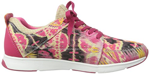 Le Coq Sportif Womens FLORE PRINT LOW High-top trainers Pink - Pink (Purple Orchid) 30lMfH8fqC