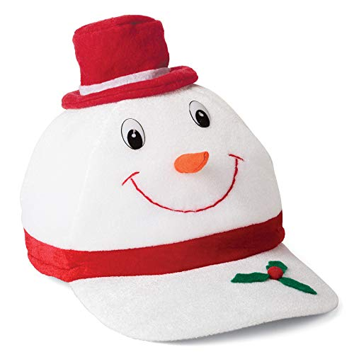 Snowman Baseball Cap, Fun-Filled Christmas & Holiday Party Snowman Baseball Hat White