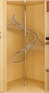 Amazon.com: Rev A Shelf Spiral Clothes Rack Closet Hanging Chrome