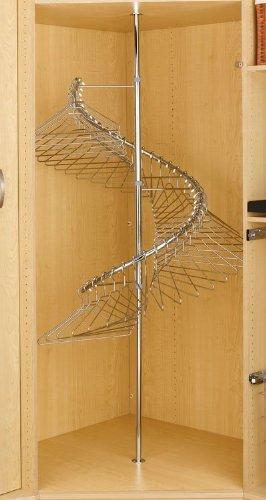 Amazon.com: Rev A Shelf Rsshr.3684 Spiral Clothes Rack Chrome 360
