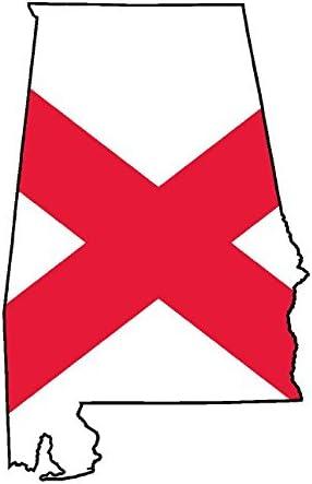 Car Truck Auto Laptop Wall Window Alabama AL State US Flag Sticker Decal