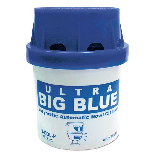 Fresh Products Ultra Big Blue Automatic Toilet Bowl Cleaner, Blue, Unscented, 9oz Cartridge - 12 automatic bowl cleaners.